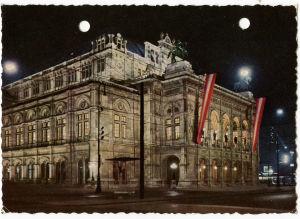 Wienin valtionooppera postikortissa 1959.