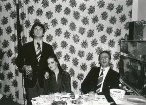 Tina Holmberg ja vieraita Moskovan konservatorion asuntolassa syksyllä 1978.