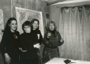 Meri Louhos, Tina Holmberg ja Taru Loppela Moskovan konservatorion asuntolassa 1978.