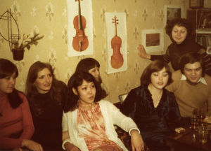 Juhlat Moskovan konservatorion asuntolassa 1978.