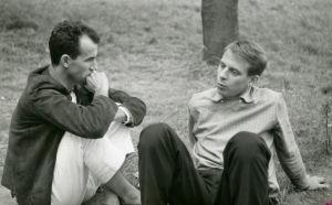 Karlheiz Stockhausen ja Luigi Nono Darmstadtissa kesällä 1957.
