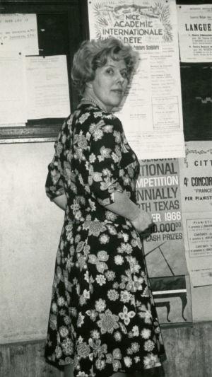 Meri Louhos kielikurssilla Nizzassa 1972.
