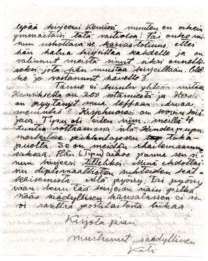 Katin kirje Merille.