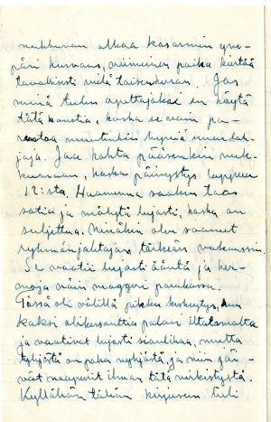 Veken kirje Merille tammikuussa 1942.