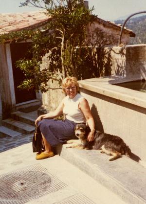 Meri Louhos Provencessa kesällä 1972.
