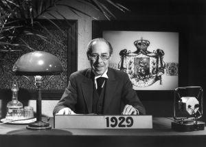 Yleisradion pääkuuluttaja Carl-Erik Creutz vuonna 1979.