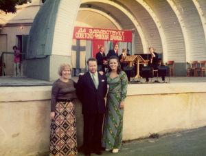 Meri Louhos, Harri Nikkonen, Pirkkoliisa Tikka ja Finlandia-kvartetti Odessassa 1974.