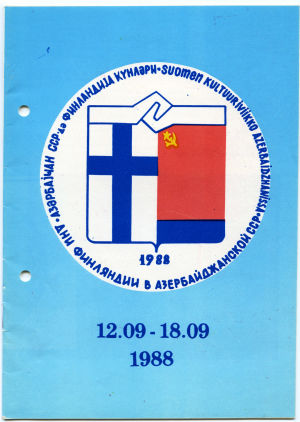 Suomen kulttuuriviikon ohjelma 19188.
