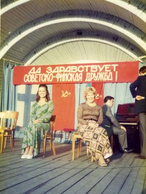 Meri Louhos ja Pirkkoliisa Tikka Odessassa 1975.
