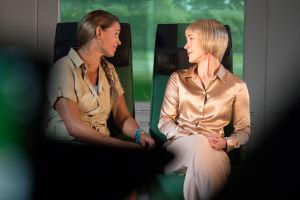 Helena ja Sonja junassa