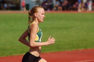 Sandra Eriksson springer i SFI-mästerskapen i Lovisa, augusti 2009.