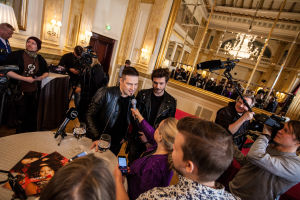 Sebastian Rejman ja Darude haastattelussa.
