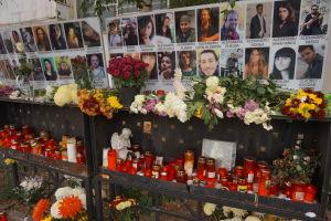Romanian yökerhopalossa kuolleiden nuorten muistomerkki