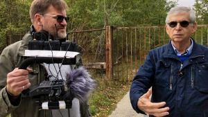 Arto Koskinen ja John Bernstein äänittämässä Gut Harzwaldessa