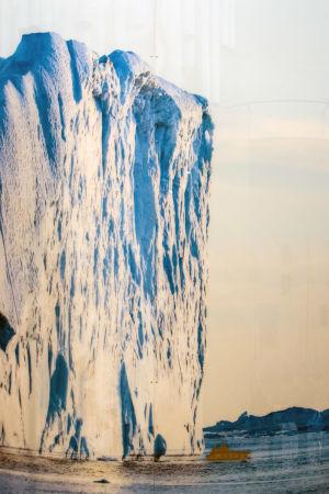Skaljämförelse mellan Replotbron och istäckets tjocklek under istiden.