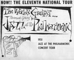 JATP kiertuejuliste vuodelta 1951