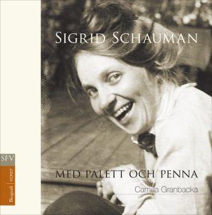 Pärmen till Sigrid Schauman med palett och penna