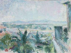 Sigrid Schauman: Landskap från Menton (1951)