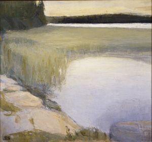 Sigrid Schauman: Strandlandskap 1900