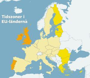 Tidszoner i EU-länderna