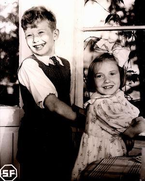Lasse Pöysti och Maire Suvanto i filmen Suomisen perhe från år 1941.