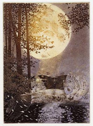 Målning av malar i månsken av Edward Okun'.