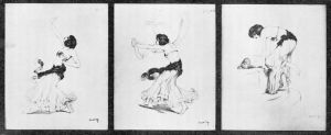 C. Walterin piirros Aino Acktésta Salomena 1907.