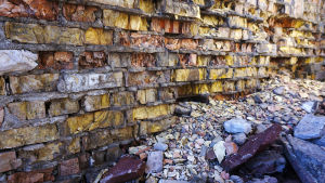 Aika puree kiviä Prypjatissa