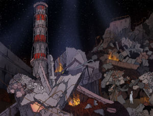 Räjähdysten jälkeen-kuvitus