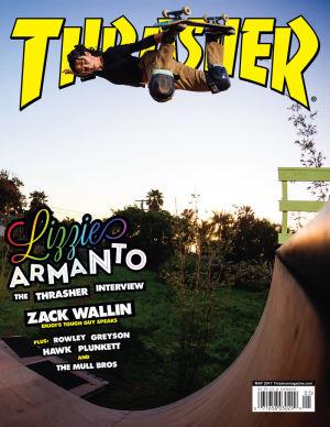 Lizzie Armanto Thrasher-lehden kannessa toukokuussa 2017.