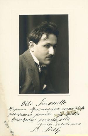 Viulutaiteilija Boris Sirob (myöh. Sirpo) 1920-luvulla.