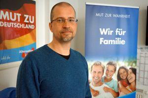 Chemnitzin AfD:n tiedottaja Tino Schneegass