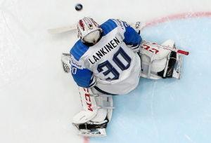 Kevin Lankinen pressades mot Ryssland.