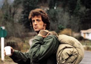 Sylvester Stallone ensimmäisessä Rambo-elokuvassa John Rambona.