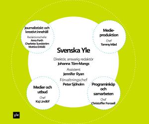 Svenska Yles organisation, graf