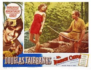 """Bild från filmatiseringen av """"Robinson Crusoe"""" 1932."""