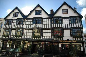 Puben Llangdoer Trow i Bristol där Daniel Defoe påstås ha träffat sjömannen Alexander Selkirk som blev förebilden till Robinson Crusoe.