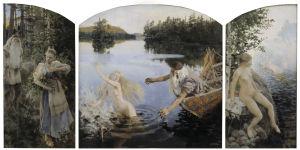 Akseli Gallen-Kallelan maalaus Aino-taru.