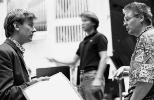 Säveltäjä Magnus Lindberg Kraft-teoksen harjoituksissa 1991.