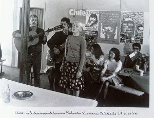 Chile-solidaarisuustilaisuus Valmetin Vuosaaren telakalla 28.8.1974