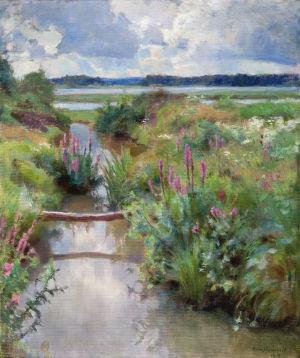 Eero Järnefeltin maalaus Kukkivaa kesää