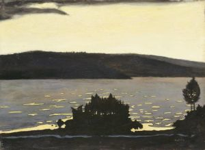 Hugo simberg: Kevätilta jäänlähdön aikaan, 1897