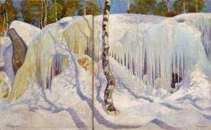 Pekka Halonen: Jään ja lumen peittämä kallio