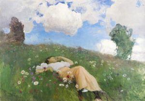 Eero Järnefeltin maalaus Saimi Kedolla