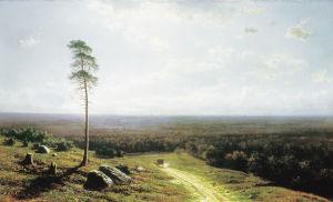 Mihail Clodt von Jürgensburg, Metsätie puolenpäivän aikaan, 1878