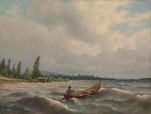 Ferdinand von Wright: Savolaisvene järvellä