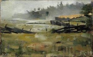 Akseli Gallen-Kallela: Sumumaisema, 1884