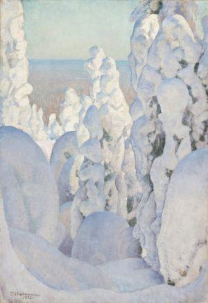 Pekka Halonen: Talvimaisema Kinahmista, 1923