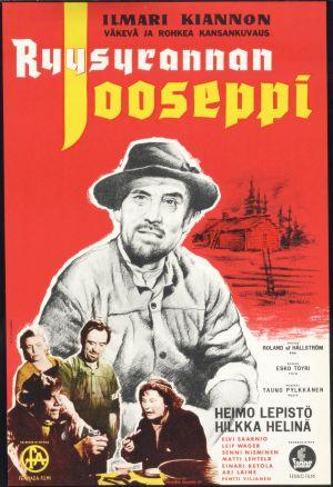 """Kotimainen elokuva """"Ryysyrannan Jooseppi"""". Elokuvan juliste."""