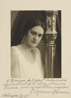 Lilly Kajanus-Blenner 9.3.1929.